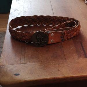 Vintage Indiana Metal Craft Belt and Buckle